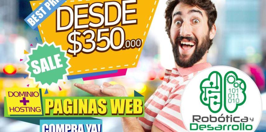 Páginas Web desde 350000 pesos